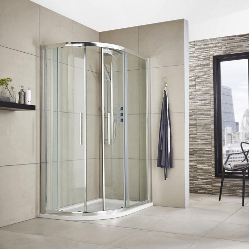 Matrix Chrome 1200mm x 800mm Offset Quadrant Shower Enclosure